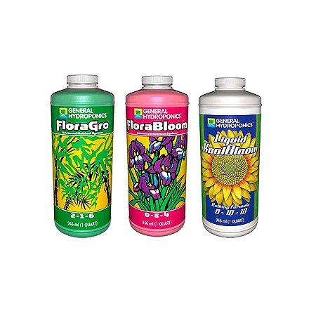 Kit FloraGro, FloraBloom, Liquid KoolBloom 946ml