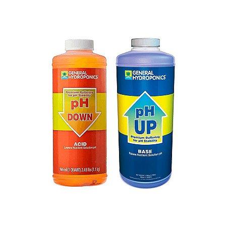Kit pH Up e Down 946ml - General Hydroponics