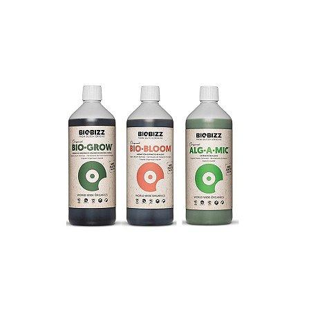 Kit Basic Biogrow, Biobloom e Alg-a-mic 3x1L - Biobizz