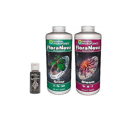 Kit FloraNova Grow + Bloom 946ml + Rapid Start 30ml - General Hydroponics