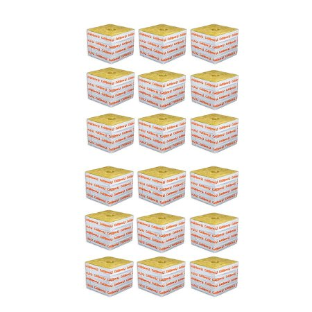 CULTILENE STONE WOOL GROWING BLOCK 7,5x7,5x6,5cm - Kit com 18