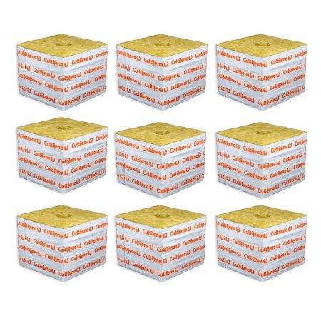 CULTILENE STONE WOOL GROWING BLOCK 7,5x7,5x6,5cm - Kit com 9