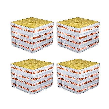 CULTILENE STONE WOOL GROWING BLOCK 7,5x7,5x6,5cm - Kit com 4