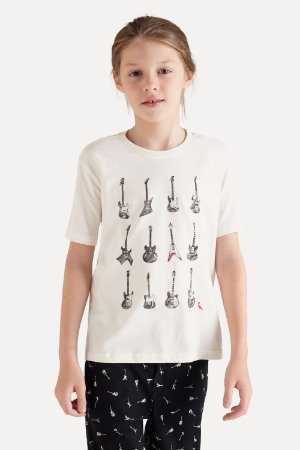 CAMISETA MINI SM SILK GUITARRAS