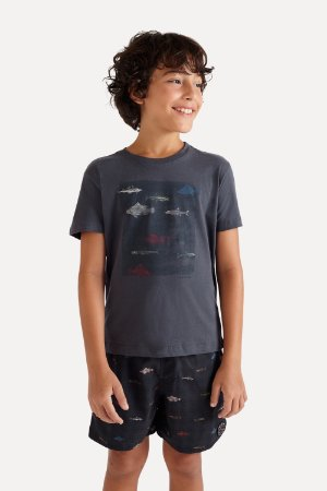 CAMISETA MINI SM SILK PEIXES
