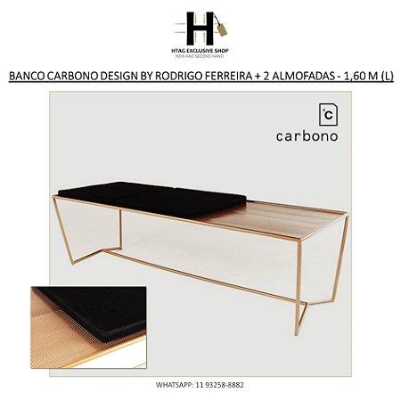 """BANCO MODELO """"C39"""" DA CARBONO DESIGN BY RODRIGO FERREIRA COM 2 ALMOFADAS - 1,60 M (L)"""