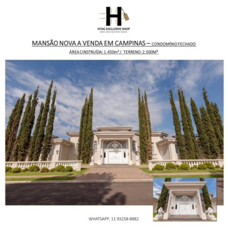 CASA DE LUXO MARAVILHOSA A VENDA NO LOTEAMENTO ALPHAVILLE DE CAMPINAS – CONDOMÍNIO FECHADO – REFORMADA HÁ 1 ANO – 1.450M² DE CONSTRUÇÃO