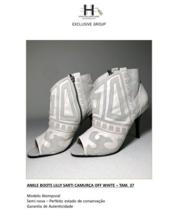 ANKLE BOOTS LILLY SARTI CAMURÇA OFF WHITE
