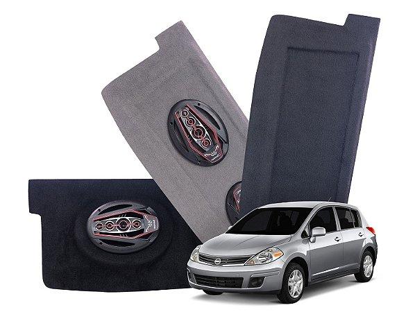 Tampão Bagagito Nissan Tiida   Cinza Escuro