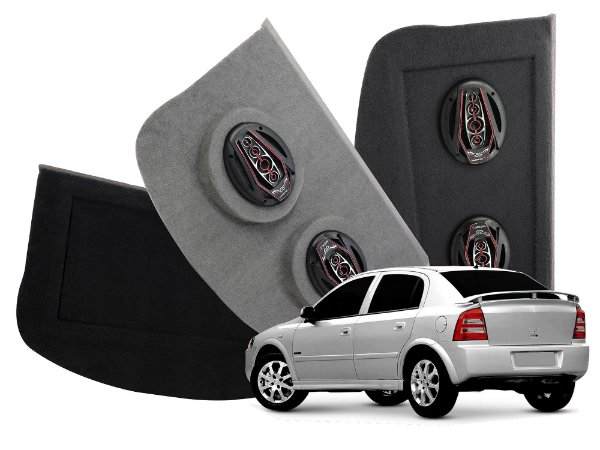 Tampão Bagagito GM Astra Hatch 1999 a 2011 | Cinza Claro