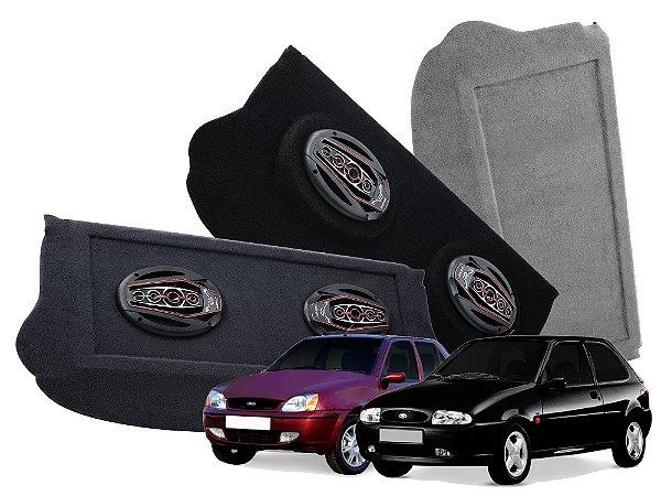 Tampão Bagagito Ford Fiesta Antigo 1996 a 2007 | Cinza Escuro