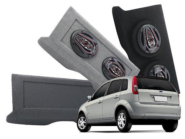 Tampão Bagagito Ford Fiesta Hatch 2002 a 2014 | Cinza Escuro