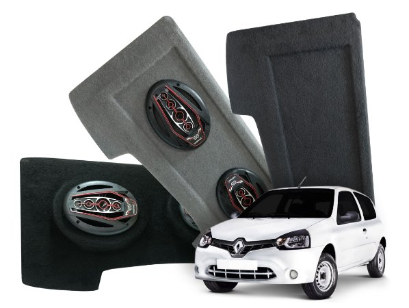 Tampão Bagagito Clio Hatch 2013 a 2016 | Cinza Claro