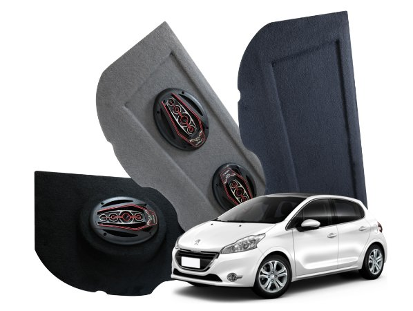 Tampão Bagagito Peugeot 208 | Cinza Escuro