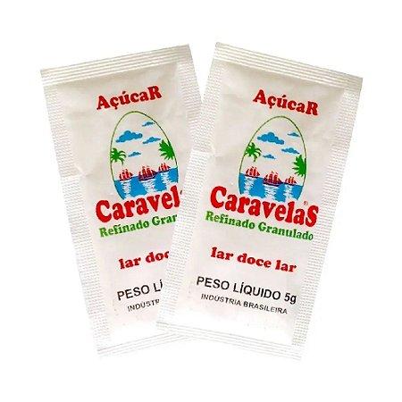 Açúcar Sachê Cristal Premium Caravelas 1000x5g