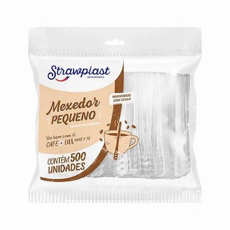 Mexedor P/Café 7cm Strawplast 500un