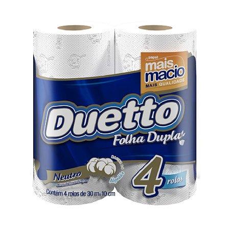 Papel Higiênico Duetto Folha Dupla 30m C/4