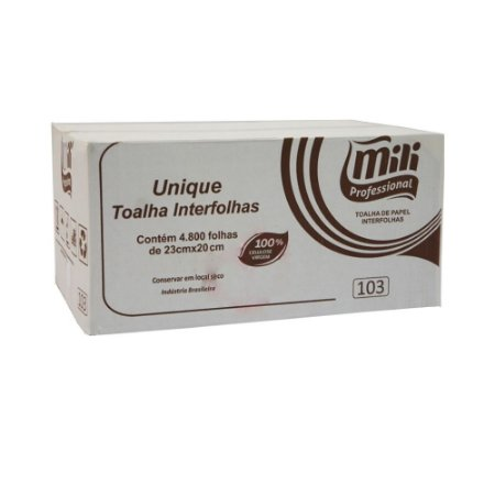 Interfolha Mili Unique 30gr 100% Celulose C/4800