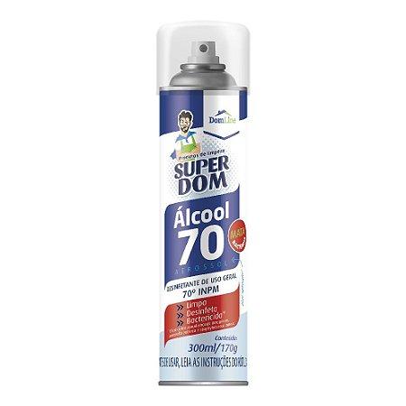 Álcool Aerossol Super Dom 70% 300ml/170g