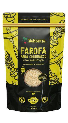 Farofa Para Churrasco Com Manteiga - Pct 300g.