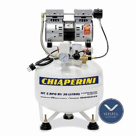 Moto Compressor Odontológico 5 Bpo Rcv 30L Sem Óleo 127v - Chiaperini