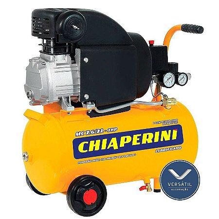 MotoCompressor MC 7,6 / 21L 2HP 2P 1 Estágio 120 Libras 220V - Chiaperini