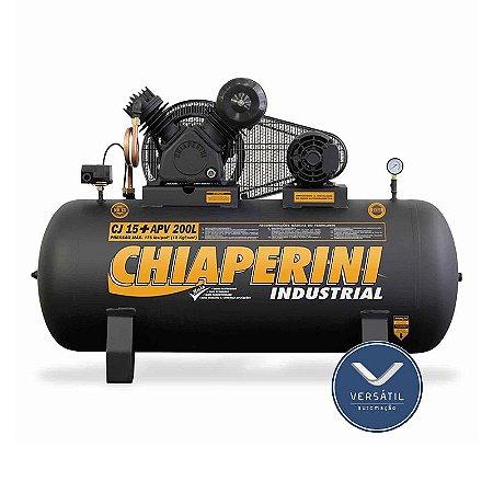 Compressor Ar 15+ APV RCH 200L C/MM 3HP 175 LIBRAS - Chiaperini