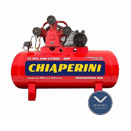 Compressor Ar 15/200 RED RCH 200L C/MM 3HP 110/220V IP21 140 LIBRAS - Chiaperini