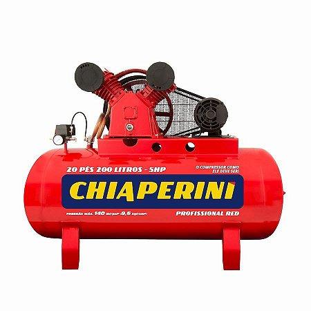 Compressor Ar 20/200 RED RCH 200L C/MM 5HP 220V Trifásico IP21 140 LIBRAS - Chiaperini