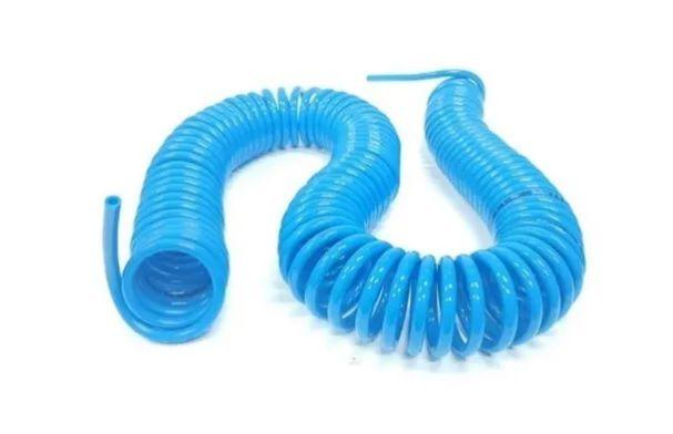 Tubo Poliuretano Em Espiral Azul 8mm Comprimento de 15m