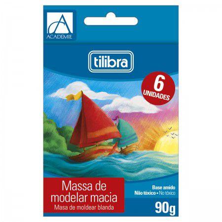 Tilibra Académie Massa para Modelar Macia, 6 Cores, Multicor por Tilibra