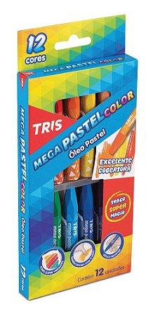 Giz Pastel Óleo Tris Mega Pastel Color 12 Cores
