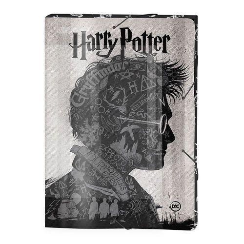 Pasta Aba com Elástico - 33x23 Cm - Harry Potter - Cinza - DAC
