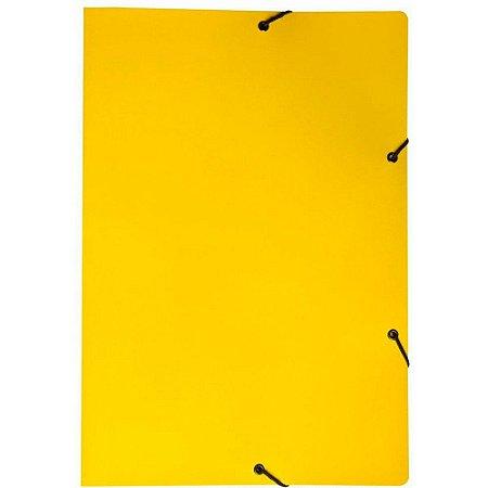 Pasta c/aba elástico em cartão duplex 350x240 amarela Dello