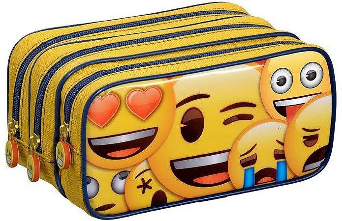 Estojo Triplo Emoji - Foroni