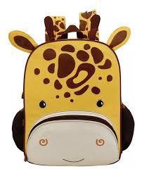 Mochila Infantil Girafinha Crianças Animal Zoo