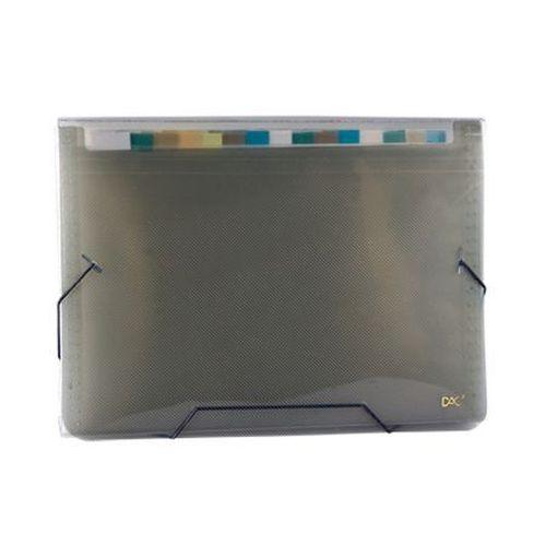 Pasta sanfonada A4 12 divisões fumê 6090PP-FM - Dac - 325mmX230mm