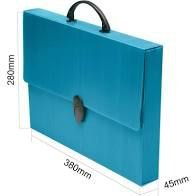Maleta Novaonda Ofício Azul 280mmX379mmX45mm 1 UN Polibrás