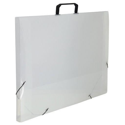 Maleta Plastica Com Alca A3 Transparente 350x505mm Dac
