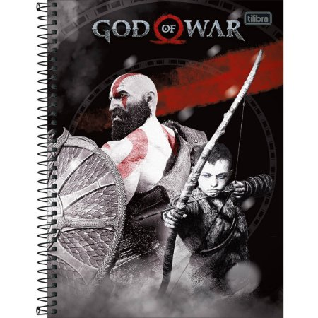 Caderno Espiral Capa Dura Universitário 1 Matéria God of War 96 Folhas