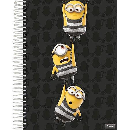 Caderno Minions Grande 10 Matérias 200 Folhas Foroni