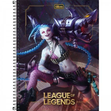 CADERNO ESPIRAL CAPA DURA UNIVERSITÁRIO 1 MATÉRIA LEAGUE OF LEGENDS 80 FOLHAS