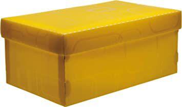 Caixa Organizadora Mini/Sapato 280mm x 170mm x 120mm Amarelo Dello