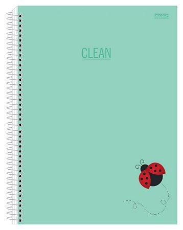 Caderno Universitário Capa Dura Clean 1 Matéria 96 Folhas São Domingos