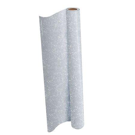 Plastico Adesivo DAC Glitter Prata PP 45cm X 10m  1703Pt