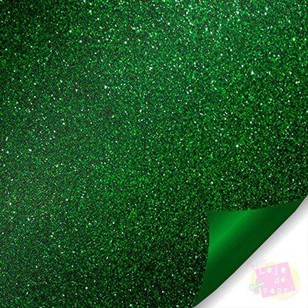 Eva Com Glitter BRW 40x60 Verde Pacote Com 5 Folhas