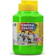 Tinta Tempera Guache Acrilex 250ml - Verde Folha