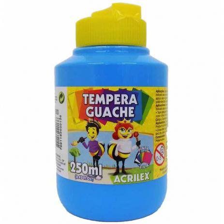 Tinta Guache 250ml Azul Celeste Acrilex