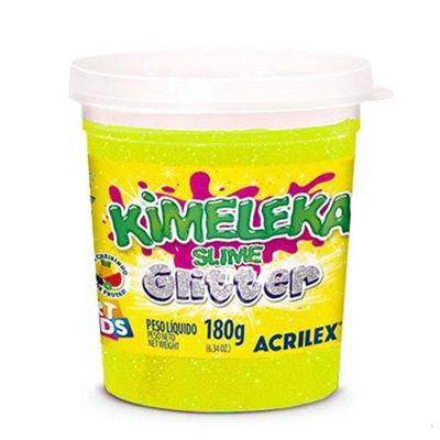 Kimeleka Art Kids com glitter 180g - Amarelo 212 - Acrilex