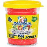 Massa P/modelar Soft Glitter 150g Vermelho 205 / Un / Acrilex